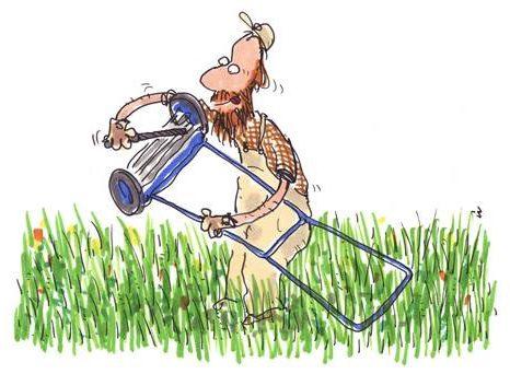 reparation af græsslåmaskine